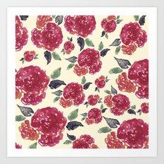 Antique Floral Art Print