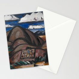 Cemetery, New Mexico by Marsden Hartley Stationery Cards