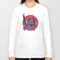 evangelion Long Sleeve T-shirts featuring Evangelion | Eva-01 by incognek0