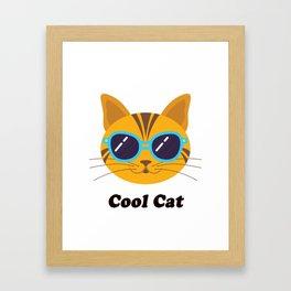 Cool Cat Kitty Gift T-Shirt Framed Art Print