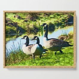 Canada Geese Dream | Painting Serving Tray