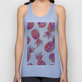 Geometric Pineapples Summer Print Unisex Tank Top