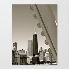 Stark Chicago in Black & White Canvas Print
