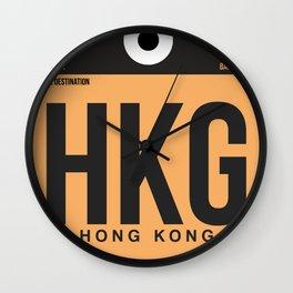 HKG Hog Kong Luggage Tag 2 Wall Clock