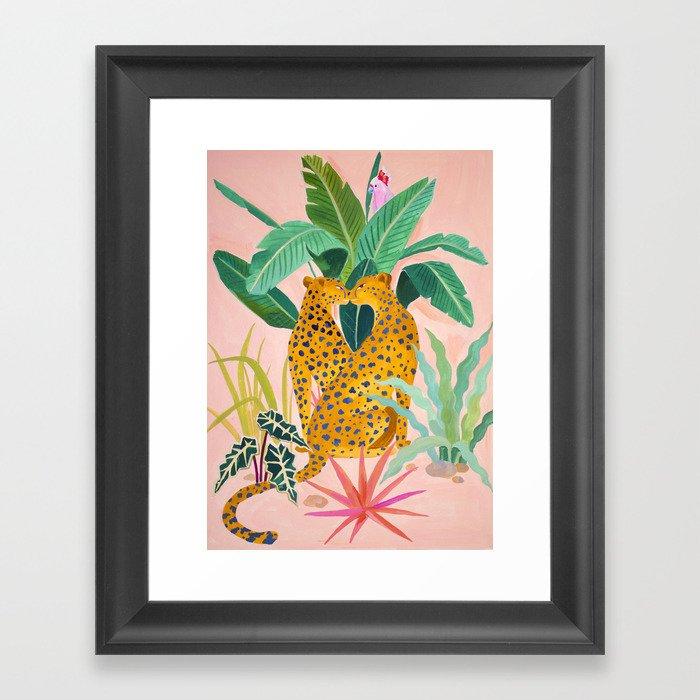 Cheetah Crush Gerahmter Kunstdruck
