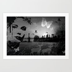 City in nature Art Print