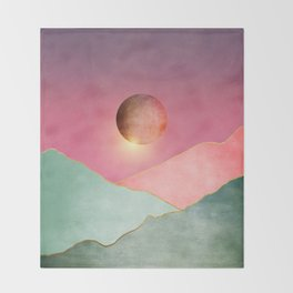 Surreal sunset 02 Throw Blanket
