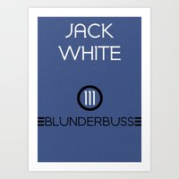 jack white Art Prints featuring Jack White by Tanner Wheat