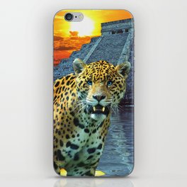 Chichen Itza Temple Guardian - South American Jaguar iPhone Skin