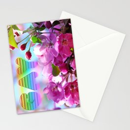 gay flowers Stationery Cards