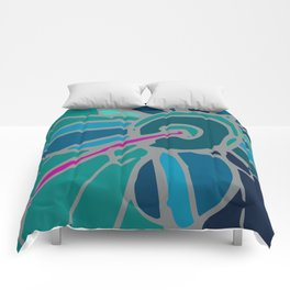 Spring collection - green - flower Comforters