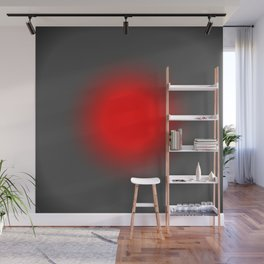 Red & Gray Focus Wall Mural