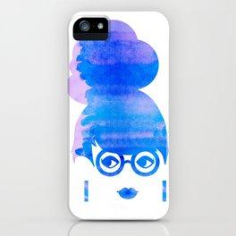 Curious Blue iPhone Case