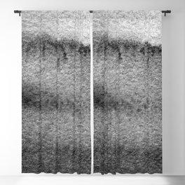 Black Watercolor Waves Blackout Curtain