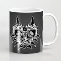 majoras mask Mugs featuring Sugarskull / Majoras mask / black'n'white by tshirtsz