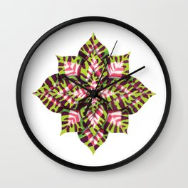 Coleus Watercolor: Bleached Wine & Lime Wall Clock
