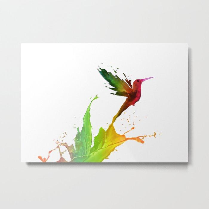 Humming Bird Colors Metal Print