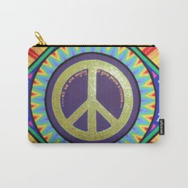 Give Peace a Chance Mandala Carry-All Pouch
