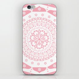 Dusky Pink Frosted Flower Mandala iPhone Skin
