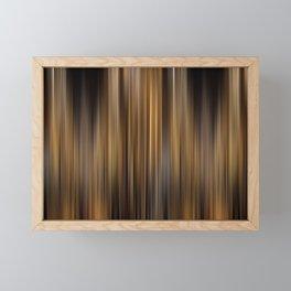 Elegant Gold Stripes Pattern Theater Cinema Curtain Background Framed Mini Art Print
