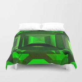 Green Emerald Of Oz Abstract Design Duvet Cover