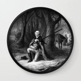 General Washington Praying At Valley Forge Wall Clock