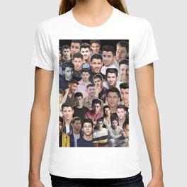 Nick Jonas collage T-shirt
