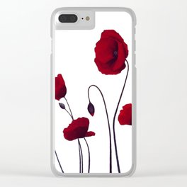 Poppies acrylic Clear iPhone Case