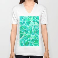 emerald V-neck T-shirts featuring Emerald by Jamworth