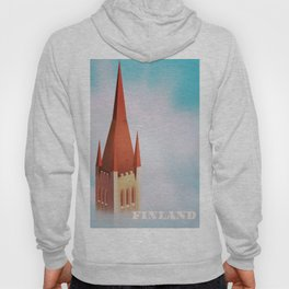 Finland church travel poster Hoody