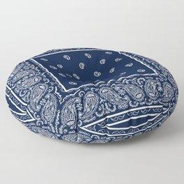 Navy Blue and White Bandana Floor Pillow