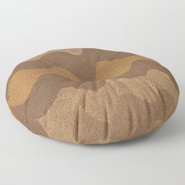 Retro Curves Whole Wheat Floor Pillow