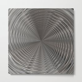 Chrome Tunnel Metal Print