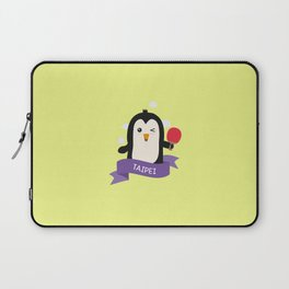 Penguin table tennis from TAIPEI T-Shirt Laptop Sleeve