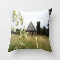farm Throw Pillows featuring Farm by ANArt