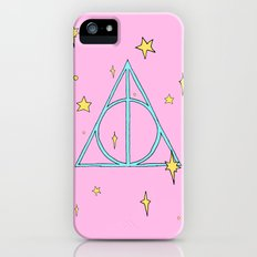 Harry potter // pastel deathly hallows iPhone (5, 5s) Slim Case