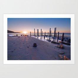 Port Willunga Sunset Art Print