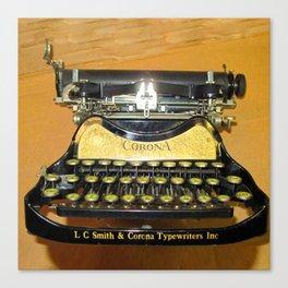 corona vintage typewriter Canvas Print