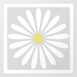 Pale Daisy Art Print