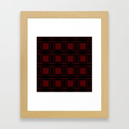Abstract Red Electric Plaid Pattern Framed Art Print