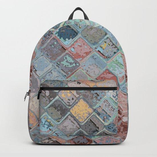 Colorful Abstract Tiles Backpack
