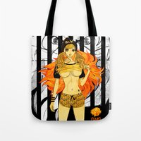 cage Tote Bags featuring Leo Cage by Chandelina