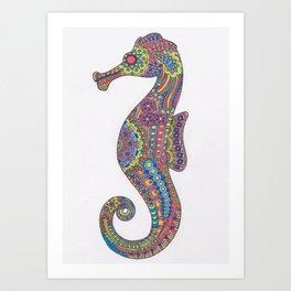 Kaleidoscope Seahorse Art Print