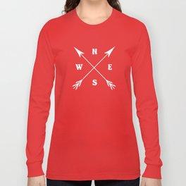 Compass arrows Long Sleeve T-shirt