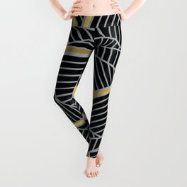 Ab 2 Silver and Gold Leggings