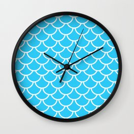 Let´s be mermaids- Aqua Teal Mermaidscales - into the Sea- on #Society6 Wall Clock