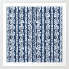 Cable Knit Navy Art Print