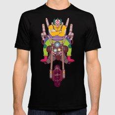Krusty the Biker Gang Neo-Tokyo Clown Mens Fitted Tee Black X-LARGE