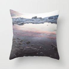Jokulsarlon Lagoon - Sunset Throw Pillow