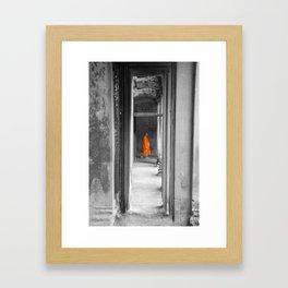 Saffron Portrait I Framed Art Print